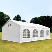 TOOLPORT Partytent 4x8m PE 300 g/m² wit waterdicht Gartenzelt, Festzelt, Pavillon