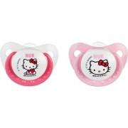 Nuk Trendline Hello Kitty Fopspeen voor Kinderen van 18 tot 36 maanden 2 Pack – 4x5x1cm | Spenen voor Peuters twee Stuks | Twee Spenen voor Kindjes vanaf Anderhalf Jaar oud
