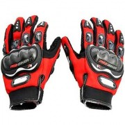 Red Pro Biker Biker Riding Gloves for Winter