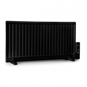 OneConcept Wallander, маслен радиатор, 1000 W, термостат, маслено нагряване, ultra плосък дизайн, черен (HTR2-Wallander1000BK)