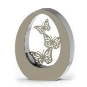 Groot RVS Oval Butterflies Asbeeld (3.5 liter)