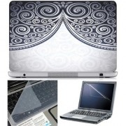 Finearts Laptop Skin Abstract Series 1013 With Screen Guard And Key Protector - Size 15.6 Inch