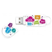 Stick USB Integral Xpression Text Mix, 8 GB, USB 2.0 (Multicolor)