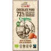Ciocolata Bio Neagra cu Migdale si 73% Cacao Pronat 150gr