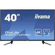 Iiyama X4071UHSU-B1 LED-monitor 101.6 cm (40 inch) Energielabel B 3840 x 2160 pix UHD 2160p (4K) 3 ms USB 3.0, VGA, HDMI, DisplayPort MVA LED
