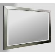 Flat Pewter Framed 36X24 Bevelled Mirror