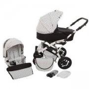 Комбинирана бебешка количка 2 в 1 TUTEK Tambero Black and White APD01, 133358133