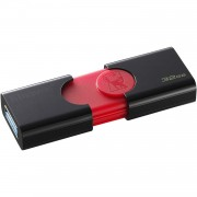 Stick de memorie Kingston DT106 32GB USB 3.1 negru + rosu