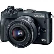 Panasonic CANON EOS M6 + EF-M 15-45mm IS STM - Nero - 2 Anni Di Garanzia - Pronta Consegna