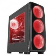 Кутия за компютър Genesis Case Titan 750 Red Midi Tower, NPC-1125
