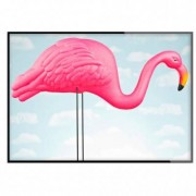 Room99.se Poster - Flamingo in the blue (40x50 cm )