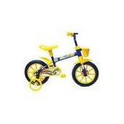 Bicicleta Masculina Track & Bikes Arco-Íris Aro 12 Amarela e Azul