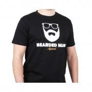 Bearded Man t-shirt Logo Glasses Black T-Shirt - Bearded Man - Svart T-shirt