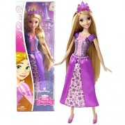 Mattel Year 2014 Disney Sparkling Princess Series 12 Inch Doll Rapunzel (Cff68) In Sparkling Purple Dress With Tiara
