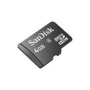 Cartão de Memória Micro SD com adapt de 4GB Sandisk