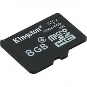 Micro Secure Digital Card Kingston, 8GB, SDC4/8GBSP, Clasa 4, fara adaptor