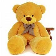 Teddy Bear 5 Feet Lovable/Huggable/Fluffy/Spongy Teddy Bear with Neck Bow for Kids/Girlfriend/Birthday Gift/Boy/Girls Yellow(152 cm