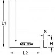 KS Tools Flachwinkel nach DIN 875/0 200 mm, VE 2 Stk