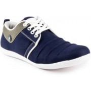 Shoe Island ® POPULAR Denim Navy Blue Casual Sneakers Canvas Shoes For Men(Grey, Blue)