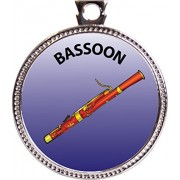 "Keepsake Awards Bassoon Silver Award Disk ""Musical Instrument Masteries Collection"" 1 Inch Dia"