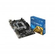 T. Madre MSI H110M PRO-VD, ChipSet Intel H110, Soporta, Intel Core I7/Core I5/Core I3/Pentium/Celeron De 6ta. Gen., Socket 1151, Memoria, DDR4 2133 MHz, 32GB Max, SATA 3.0, USB 3.0, Integrado, Audio HD, Red Gigabit, Micro-ATX, Ptos, 1xPCIE 3.0
