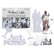 Confeti nunta - 21 gr, Radar 719180, Alb/Argintiu