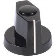Buton indicator Mentor, negru, Ø ax 4 mm, tip 355.41