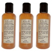 Khadi Honey and Vanilla Shampoo 210 ML (Pack of 3)
