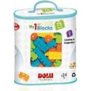Primele cuburi de construit DOLU 75 piese Multicolor