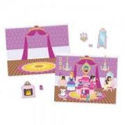 Книжка със стикери за многократна употреба Замъкът на принцесата Melissa and Doug, 000772143066