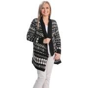 Die moderne Hausfrau Dlouhý vzorovaný svetr, černobílý, vel. l/xl