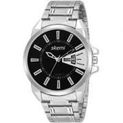 Skemi Analog Round Black Dial Men Watch / Fashionable Men Watch / Watches For Men -069