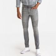La Redoute Collections Jeans corte slim, estilo motardCinzento- 40