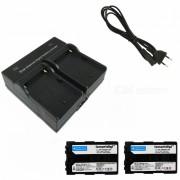 Ismartdigi FM500H Baterias de Camara Digital + Cargador Dual - Negro