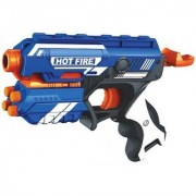 SHRIBOSSJI Blaze Storm Long and Safe Range Soft Dart Gun With 10 Soft Bullets (Multicolor)