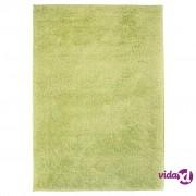 vidaXL Čupavi ukrasni tepih 140 x 200 cm zeleni