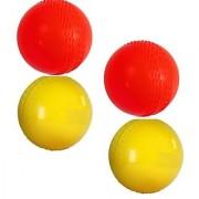 Multi Color PVC/Plastic Cricket Wind Balls ( Pack of 4 Balls )