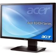 """Acer Monitor 24"""" Acer B243hlaoymdr Led Full Hd Vga Altoparlanti Incorporati Refurbished Grigio"""