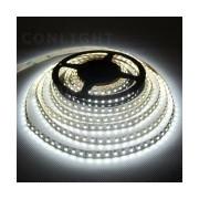 LED szalag beltéri (IP20) 14,4W / m teljesítménnyel, 560lm, 4000K semleges fehér színhőmérséklettel, 12V DC, 10mm széles, 60 LED/m SMD LED, 120°(Tracon LED-SZ-144-NW)