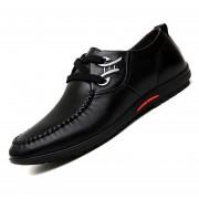 Zapatos De Ecocuero Ocio Para Hombres - Negro