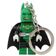 Generic Batman Movie Figure Keychain Lantern Corps Super Hero Joker Bat-Man Key Chain Building Blocks Set Model Bricks Toys PG358