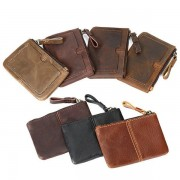 Genuine Leather Mini Coin Bag Card Holder Purse Wallet Purse