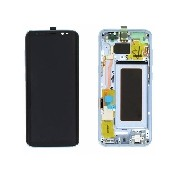 Display cu touchscreen si rama Samsung SM-G950F Galaxy S8 albastru ORIGINAL
