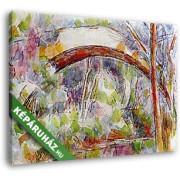 Paul Cézanne: Híd a Három forrás folyón (35x25 cm, Vászonkép )