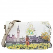 Y Not? Borsa Donna Y NOT a Tracolla con Patta J-352 Flower Tower
