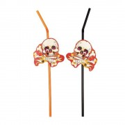 Paie flexibile cu craniu pentru petrecere halloween, amscan rm551809, set 8 buc