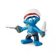 Schleich Gun Smurf Toy Figure