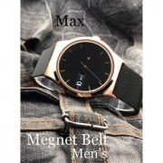 Time Zone RA Black Gold Analog Magnetic Strap