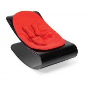 Bloom Coco Plexistyle Baby Lounger - Ebony Black With Rock Red, Leatherette