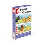 JANOD Trzyczęściowe puzzle Zwierzęta i ich dzieci 30 elementów,
